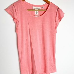 NWT H&M light coral cotton sleeveless top
